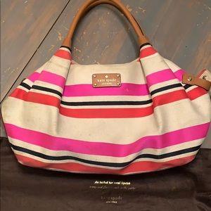 Kate spade New York multi stripe bright purse